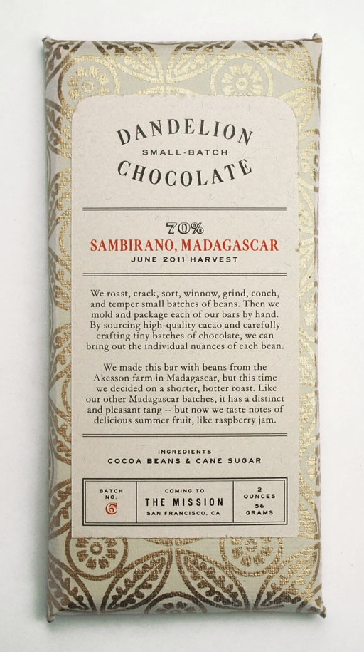Dandelion Chocolate, $8