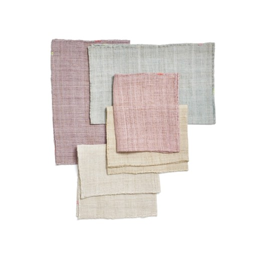 abcDNA Glo Hemp & Metallic Stitch Placemats, $36