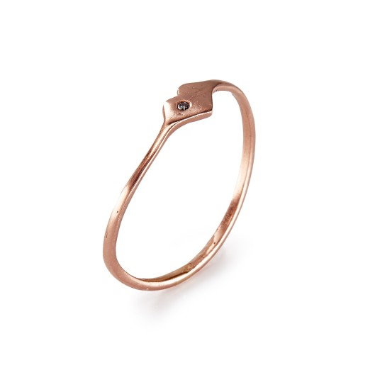 Rose Gold Heart Ring, $160
