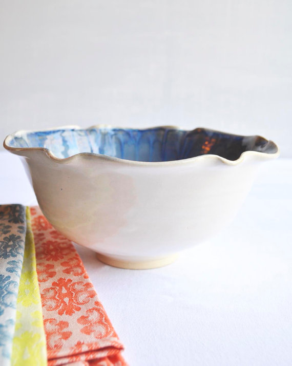 Large Serving Bowl in Dusk Blue, $54