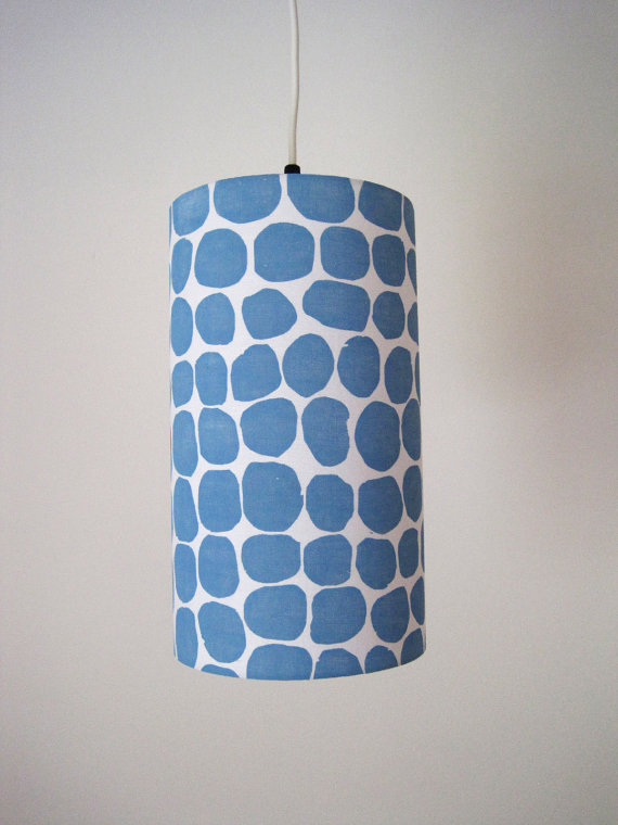 "Jeanne McGee Art - Hand-printed 7"" pendant, $65"
