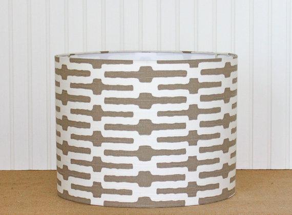 "Sassyshades - Taupe t-pattern 13"" drum, $75"