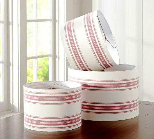 "Pottery Barn - 14"" red stripe, $43 (sale)"