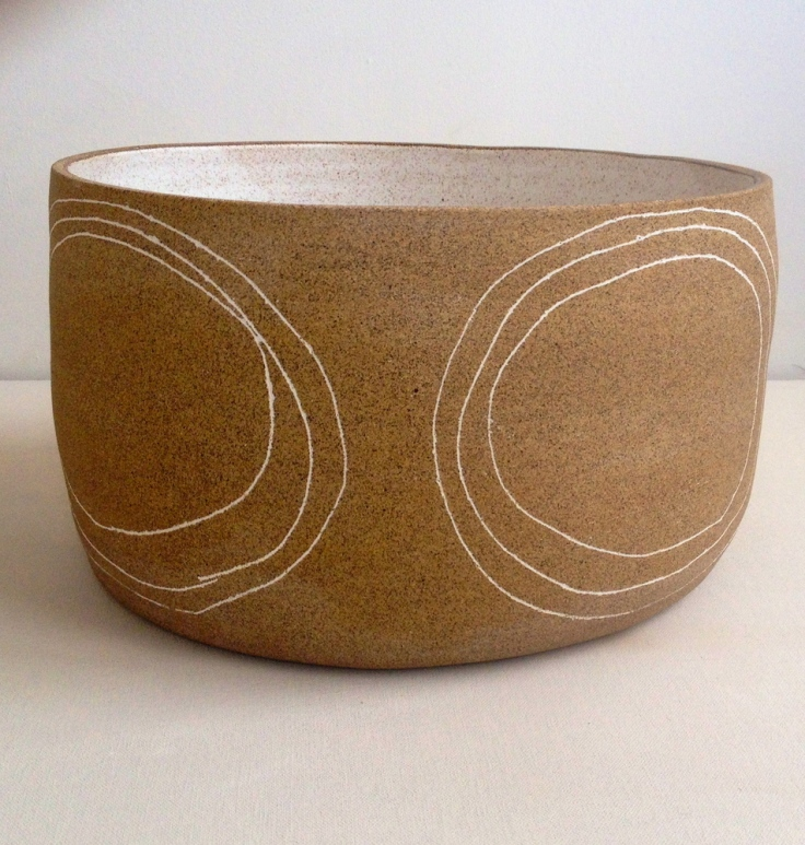 Big Speckled Circles Bowl, $265