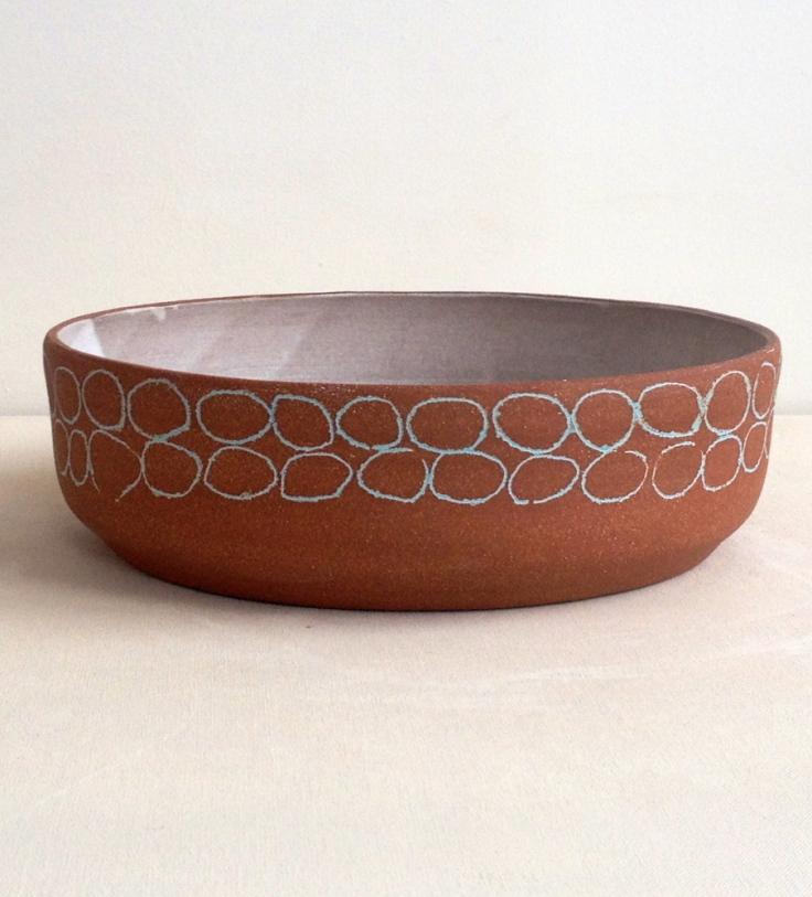Blue Circles Stoneware Bowl, $235
