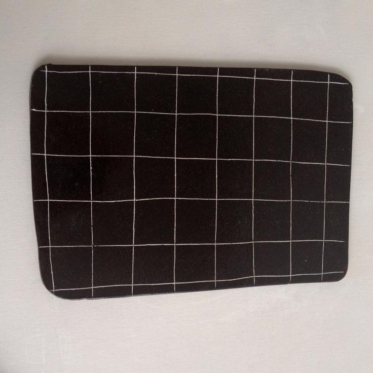Flat Black Terracotta Platter, $90