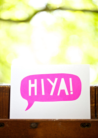 HIYA Screen Print, £10