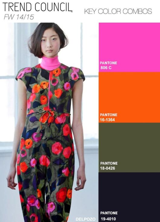Fall Winter 2014-2015 Fashion Color Trends from Trend ...