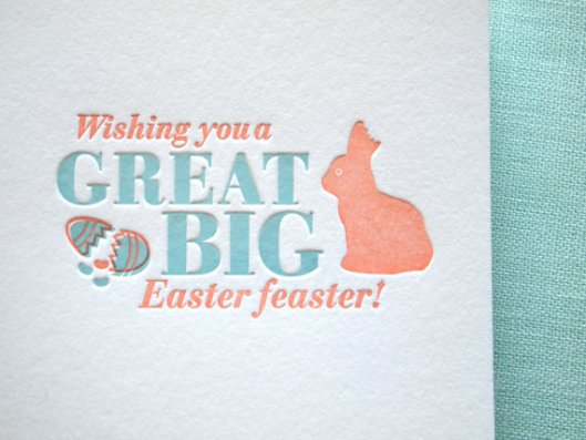 Farewell Paperie - Easter Feaster Card, $5
