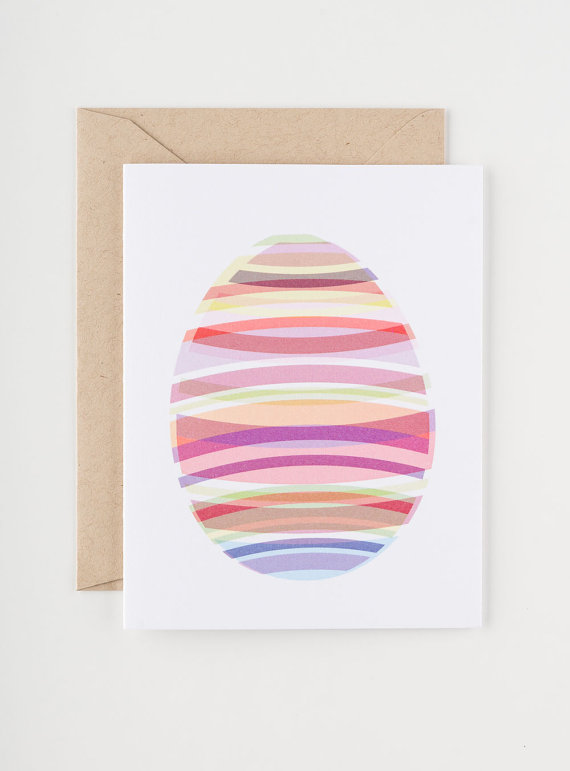 Seahorse Bend Press - Spring Hues Easter Card, $5