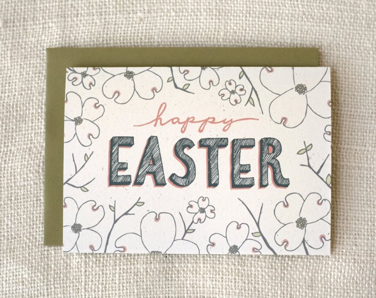 Wit & Whistle - Dogwood Easter Card, $4.50