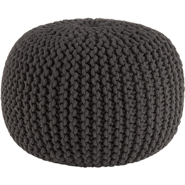 CB2 Knitted Graphite Pouf, $80
