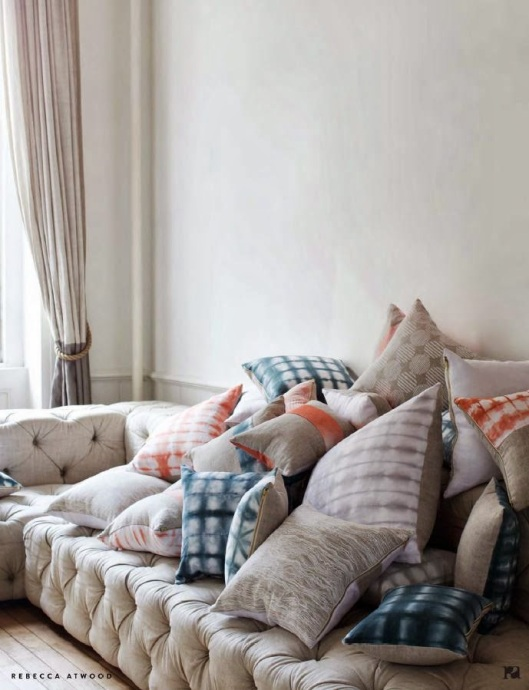 rebecca atwood sofa and pillows