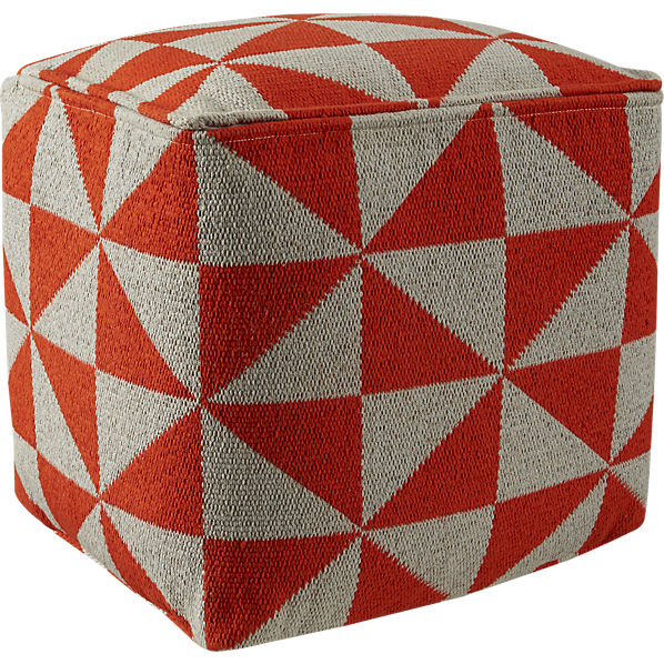 Vane Knitted Pouf, $129