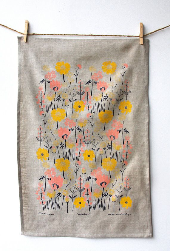 Leah Duncan - Meadow Tea Towel, $27