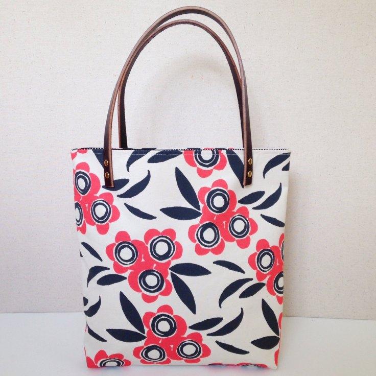 Ana Joyce - Camellia Tote Bag in Coral, $88