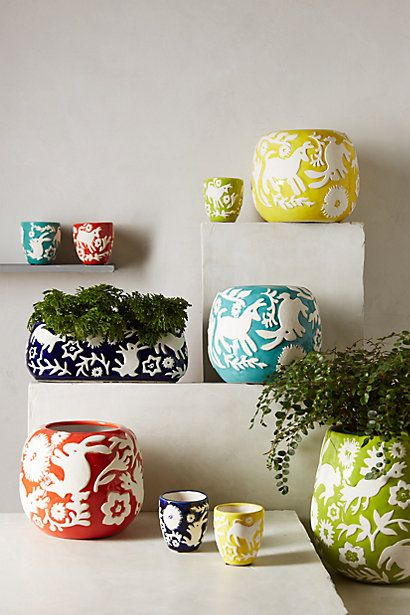 Anthropologie - Concha Garden Pots, $15 - $40