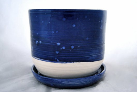Muddy Pots - Cobalt and White Planter, $40