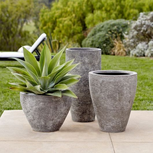 West Elm - Ridged Stone Planters, from $143 (sale)