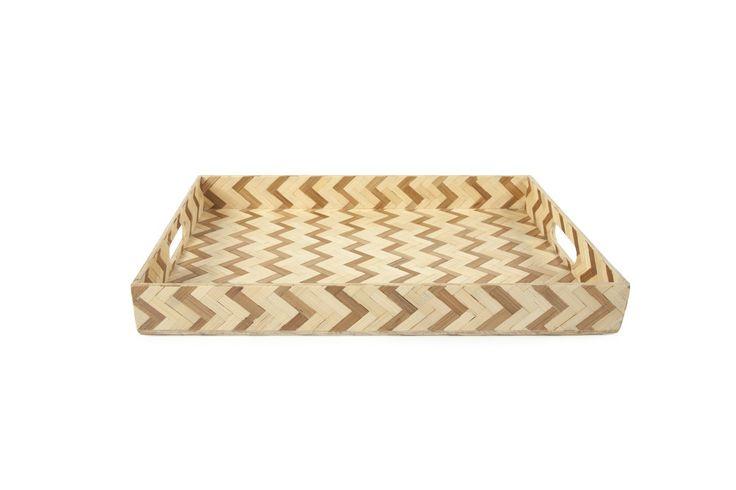 Core Bamboo - Chevron Tray, $48