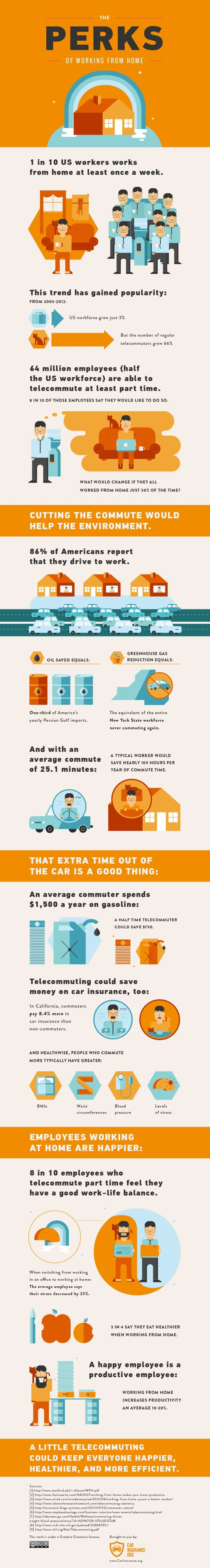 Work at Home Inforgraphic