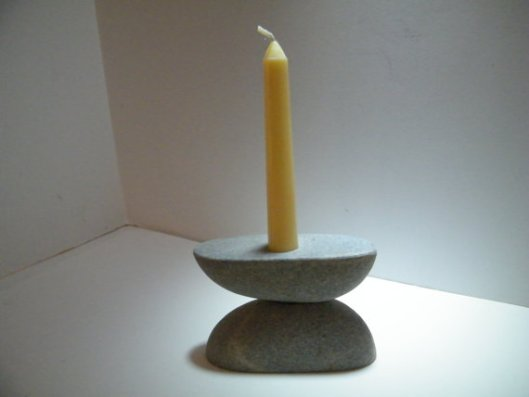 Roux Specialities - Rock Candleholder, $29