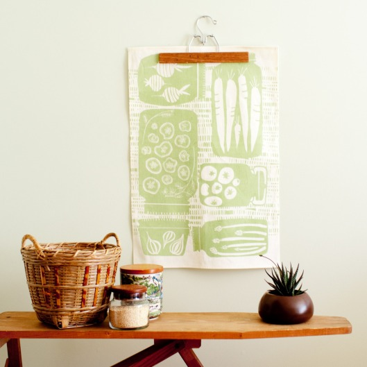 Preserves Pattern Tea Towel, $25