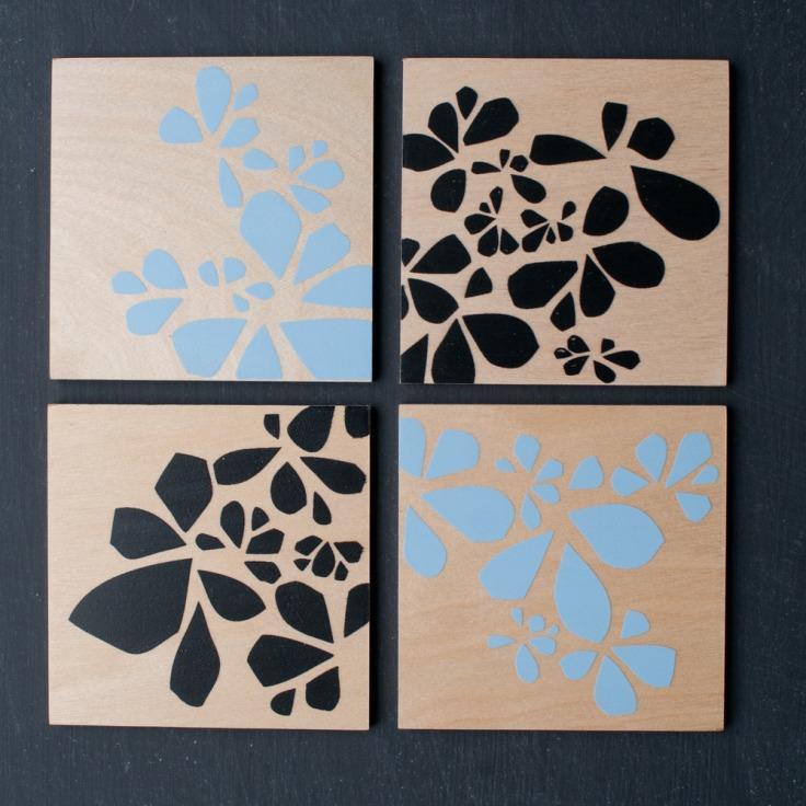 Flora Coasters set of 4, $25