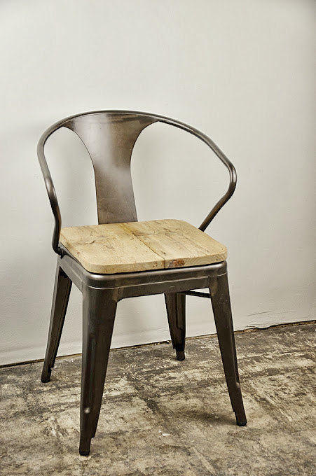 Sugar Scout - Reclaimed Tolix Arm Chair, $178