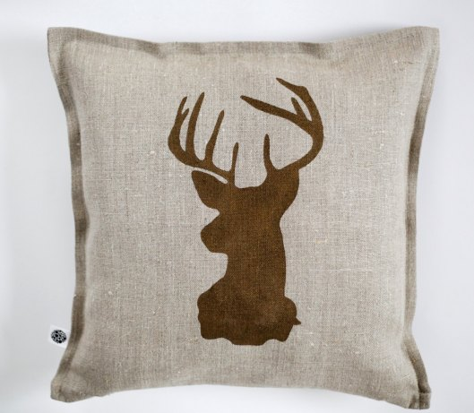 Pillow Link - Linen Stag Pillow, $30