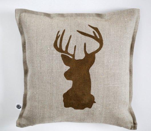 Pillow Link - Linen Stag Pillow, $30