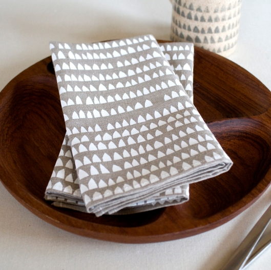 House Pattern Napkins, $28