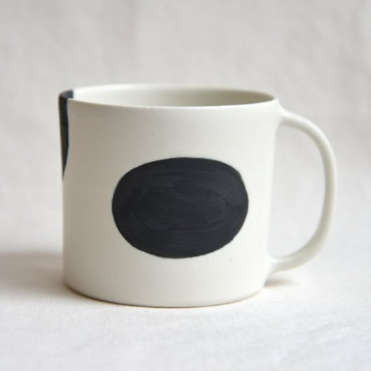 Dot Tube Shape Mug, $40