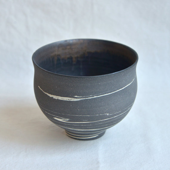 Black Marble Tea Bowl, $70