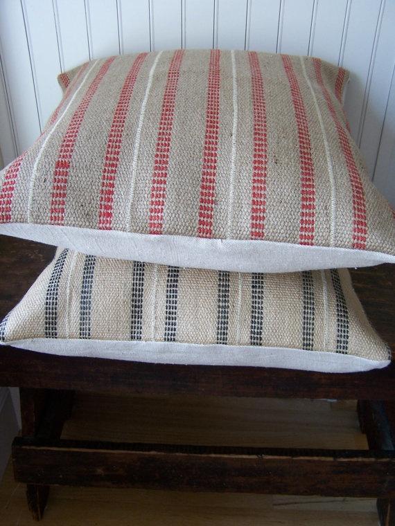 Home Spun Style - Jute Pillow Cover, $24