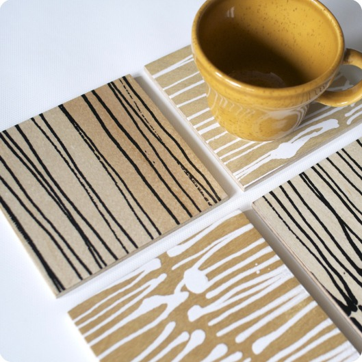 Line Coasters set of 4, $25
