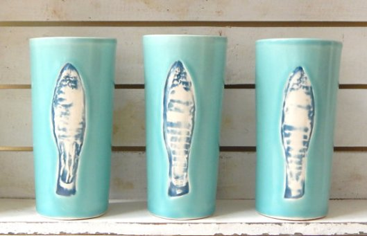 Momplaisir - Turquoise Fish Cup, $19