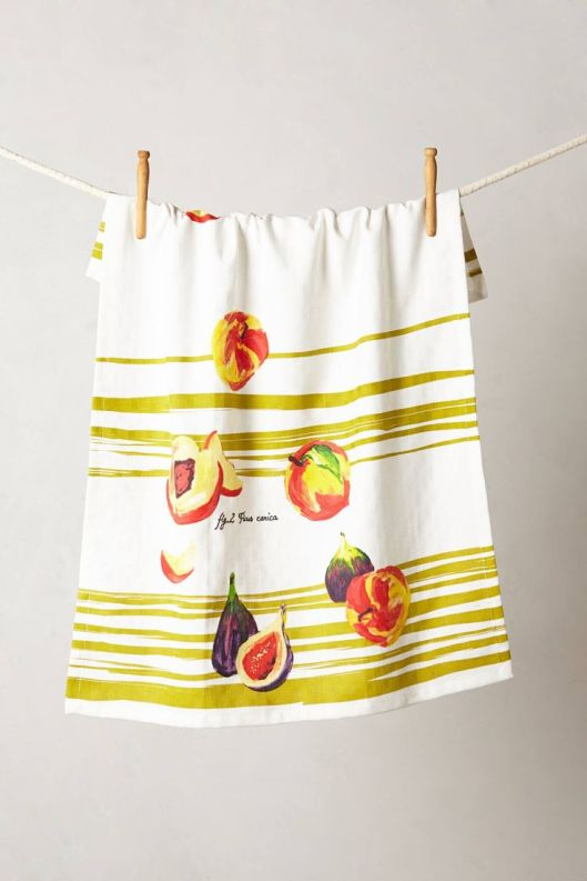 Tumbling Fruits Dishtowel, $16