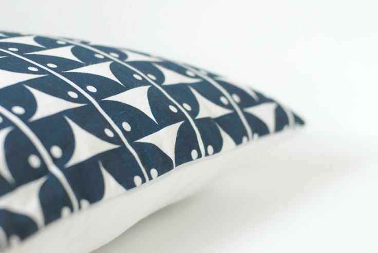 Ava Pillow Cover - Midnight Blue, $38