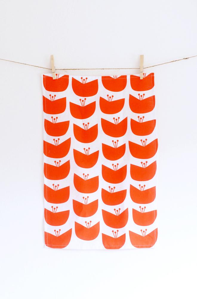 Blossom Tea Towel, $22