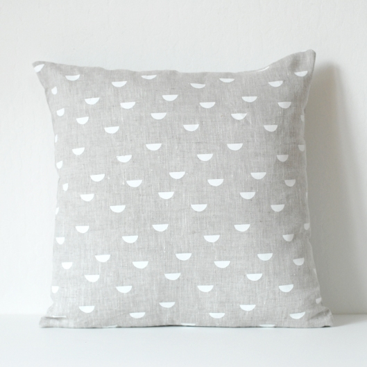 Scales Pillow Cover - white & natural, $38