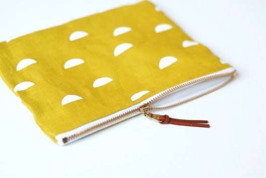 Scales Medium Zipper Pouch - Yellow, $22