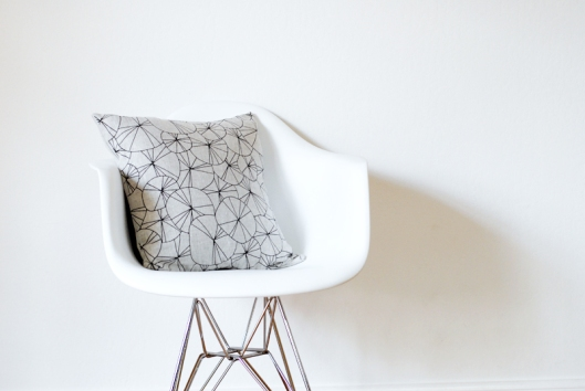 Spokes Pillow Cover - Black & Natural, $38