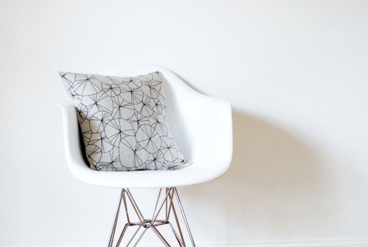 Spokes Pillow Cover - Black & Natural, $38