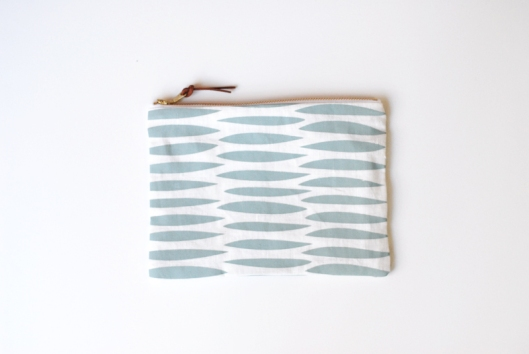 Wove Medium Zipper Pouch - Blue, $22