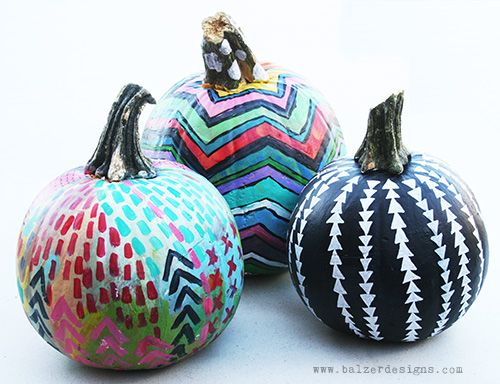 Painted Pumpkins Blue Bergitt