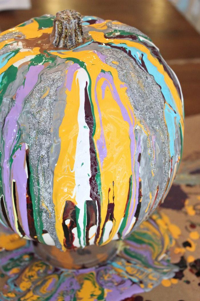 Painted Pumpkins Blue Bergitt