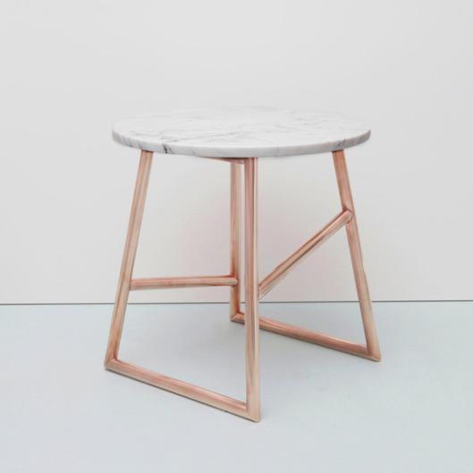 Iacoli & McAllister - Algedi Table in Copper/Marble, $1895