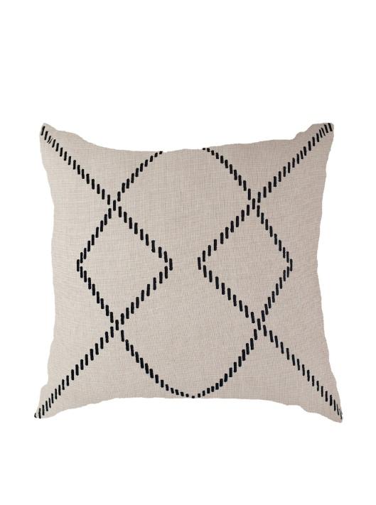 Bandhini - Linen and Black Pillow, $39