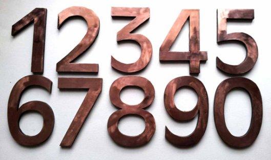 David Meddings Design - Copper House Numbers, $44.27